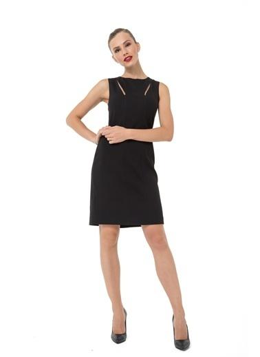 Accouchée Emzirme Özellikli Şık Elbise Siyah